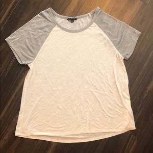 American Eagle Outfitters Tops - White and silver baseball tee
